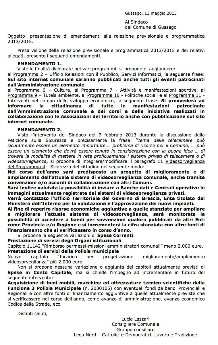 emendamenti 2013