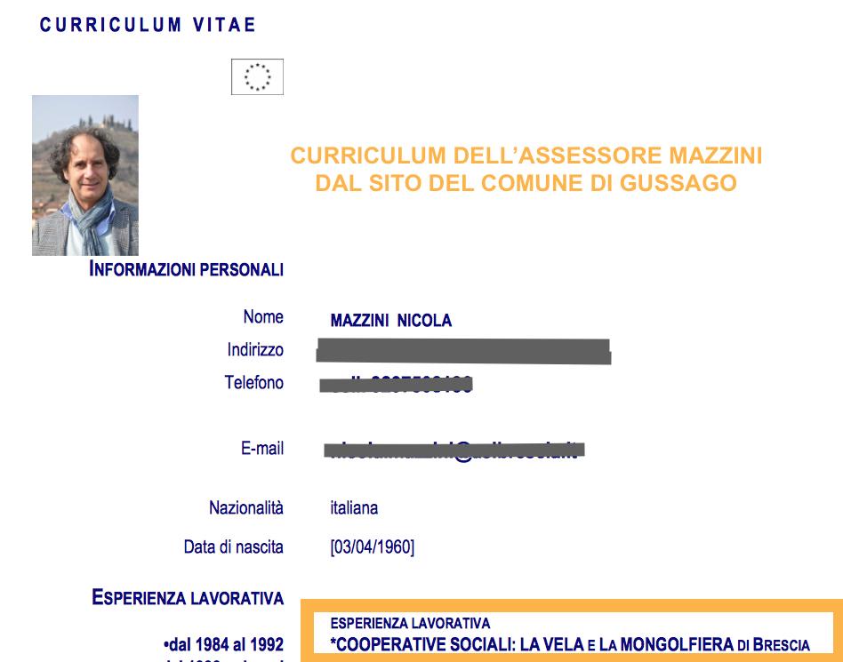 Curriculum Mazzini